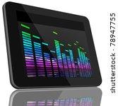 book and tablet computer 3d... | Shutterstock . vector #78947755