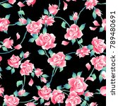 rose illustration pattern. i... | Shutterstock .eps vector #789480691