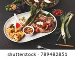 restaurant dish background.... | Shutterstock . vector #789482851