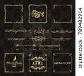 gold frame made in vector.... | Shutterstock .eps vector #789482914
