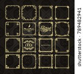 gold frame made in vector.... | Shutterstock .eps vector #789482941