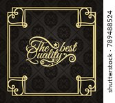 gold frame made in vector.... | Shutterstock .eps vector #789488524