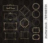 gold frame made in vector.... | Shutterstock .eps vector #789488554