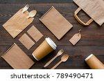 set of recycle brown paper bag  ... | Shutterstock . vector #789490471