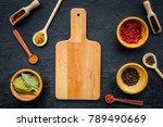 mock up for menu or recipe....   Shutterstock . vector #789490669