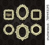 Gold Frame Made In Vector....