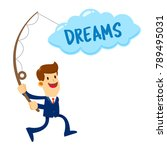 vector stock of a businessman...   Shutterstock .eps vector #789495031