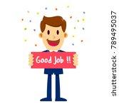 vector stock of a businessman...   Shutterstock .eps vector #789495037