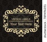 gold frame made in vector....   Shutterstock .eps vector #789496351