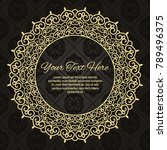 gold frame made in vector.... | Shutterstock .eps vector #789496375
