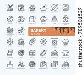 bakery shop elements   minimal...   Shutterstock .eps vector #789501529