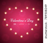 valentine s day   light... | Shutterstock .eps vector #789508249