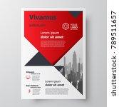 red color business flyer...   Shutterstock .eps vector #789511657