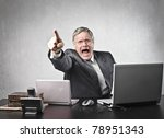 angry senior businessman... | Shutterstock . vector #78951343