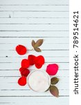 hand cream with red rose | Shutterstock . vector #789514621