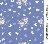 delicate seamless pattern with... | Shutterstock .eps vector #789515011