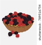 gourmet red fruit tartlet... | Shutterstock .eps vector #789516754