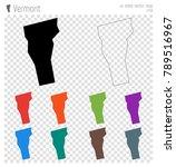 vermont high detailed map. us... | Shutterstock .eps vector #789516967