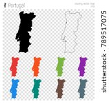 portugal high detailed map.... | Shutterstock .eps vector #789517075