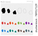 gili islands high detailed map. ... | Shutterstock .eps vector #789517129