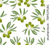 realistic detailed color olives ... | Shutterstock .eps vector #789519181