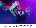 sexy disco party woman.... | Shutterstock . vector #789520195