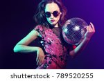 sexy disco party woman.... | Shutterstock . vector #789520255