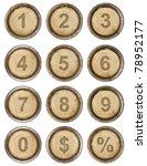 Numbers  Grunge Typewriter Keys ...