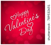 happy valentine's day card with ... | Shutterstock .eps vector #789532651