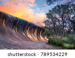 sunset at wave rock near the... | Shutterstock . vector #789534229