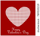 happy valentine's day card... | Shutterstock .eps vector #789535219