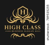 high class is a luxurious... | Shutterstock .eps vector #789535255