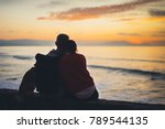 couple hugging on background... | Shutterstock . vector #789544135