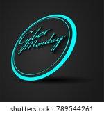 cyber monday sale concept | Shutterstock .eps vector #789544261