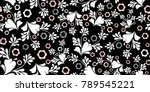 seamless floral pattern with... | Shutterstock .eps vector #789545221