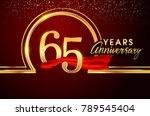 sixty five years birthday... | Shutterstock .eps vector #789545404