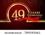 forty nine years birthday... | Shutterstock .eps vector #789545461