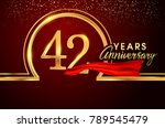 forty two years birthday... | Shutterstock .eps vector #789545479