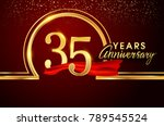 thirty five years birthday... | Shutterstock .eps vector #789545524
