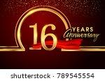 sixteen years birthday... | Shutterstock .eps vector #789545554
