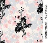 seamless vector vintage pattern ... | Shutterstock .eps vector #789546961