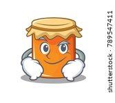 smirking jam character cartoon... | Shutterstock .eps vector #789547411