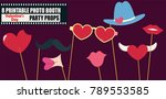 happy valentines day photo... | Shutterstock .eps vector #789553585