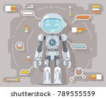 boy teen robot android... | Shutterstock .eps vector #789555559
