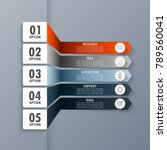 infographic elements in modern... | Shutterstock .eps vector #789560041