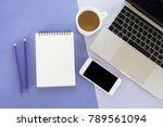 creative workplace. blank... | Shutterstock . vector #789561094