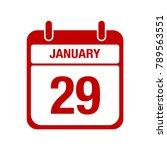 29 january calendar red icon.... | Shutterstock .eps vector #789563551