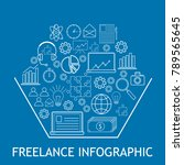 simple freelance infographic.... | Shutterstock .eps vector #789565645