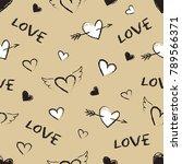 valentine's day seamless... | Shutterstock .eps vector #789566371