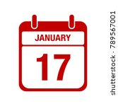 17 january calendar red icon.... | Shutterstock .eps vector #789567001